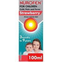 Nurofen for Children Cold & Flu Strawberry 100ml