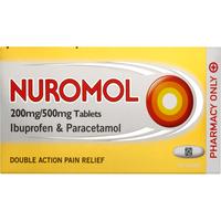 Nuromol 200/500mg Tablets 12s