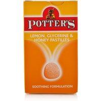 Potters Lemon Glycerine & Honey Pastilles