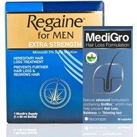 Regaine Extra Strength & MediGro Advanced Hair Treatment Pack For Men