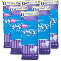 Always Maxi Long Super Plus With Wings - 6 Pack