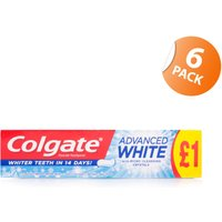 Colgate Advanced Whitening Toothpaste - 6 Pack