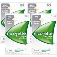 Nicorette 2mg Original Gum - 420 Pieces