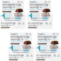 Pharma Whey Bar Double Chocolate 12 x 75g x Four Pack