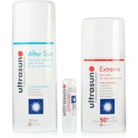 Ultrasun Extreme Sun Lotion SPF50+ Aftersun Gel 150ml + Ultralip SPF30
