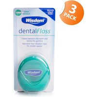 Wisdom Mint Waxed Dental Floss - Triple Pack