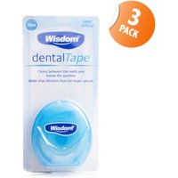 Wisdom Mint Waxed Dental Tape - Triple Pack