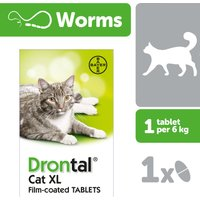 Drontal Cat XL Wormer Single tablet