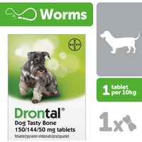 Drontal Dog Tasty Bone 102 Tablets
