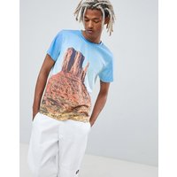 Weekday T-Shirt In Blue With Nevada Print - All over print