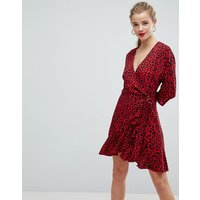 ASOS Animal Print Mini Wrap Dress - Multi