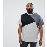 Duke King Size T-Shirt in Cut & Sew In Grey Marl - Grey marl