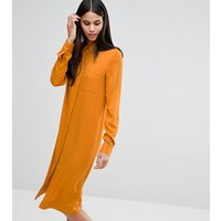 ASOS TallASOS TALL Casual Midi Shirt Dress - Ochre
