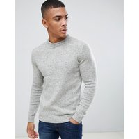 Superdry Harlo twisted crew neck knit in beige - Porridge tweed