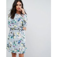Y.A.SY.A.S Floral Print Shift Dress - Sky grey