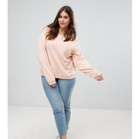 ASOS DESIGN Curve - Ultimate - Rosa Sweatshirt - Rosa