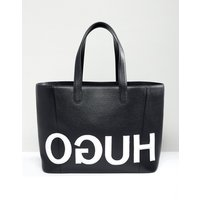 HUGO tote bag with textured logo - Blakc combi