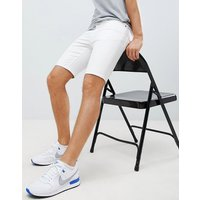 LDN DNM White Denim Shorts - White