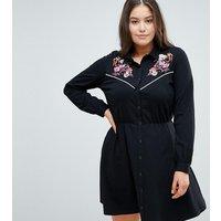 ASOS DESIGN Curve - Besticktes Hemdkleid - Mehrfarbig