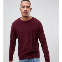 Jacamo Tall sweatshirt in towelling - Red