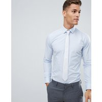 French Connection Slim Fit Poplin Shirt - Soft blue