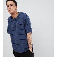 Heart & Dagger oversized striped t-shirt in navy - Navy