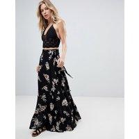Faithfull Floral Bloom Maxi Skirt - Chelsea midnight