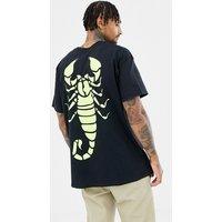 HNR LDN scorpio back print t-shirt - Black