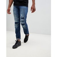 G-star 3301 Tapered 3d Restored Jeans - Blue