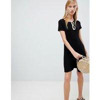 New Look Cap Sleeve Swing Dress - Black