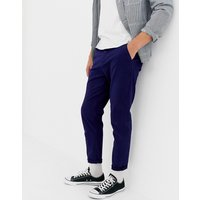 ASOS DESIGN tapered chinos in deep blue - Eclipse