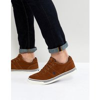 Polo Ralph Lauren Hanford Suede Trainers Player Logo in Tan - Snuff