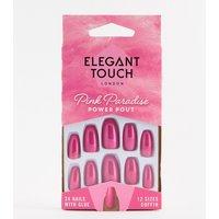 Elegant Touch Pink Paradise False Nails - Power Pout - Power Pout