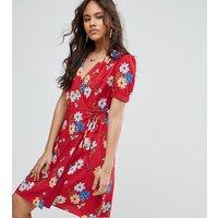 Glamorous TallGlamorous Tall All Over Floral Wrap Front Tea Dress - Multi