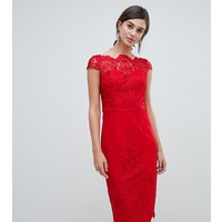 Chi Chi London Tall lace midi pencil dress