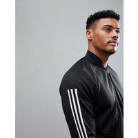 Adidas Athletics Knitted Bomber In Black Cg2130 - Black