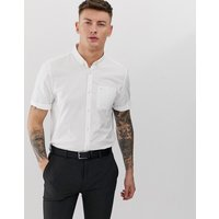 River Island regular fit oxford shirt in white - White