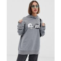 Cheap Monday logo hoodie with organic cotton - Grey melange