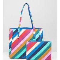 Accessorize Rainbow Tote Bag - Multi