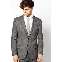 River Island Slim Fit Suit Jacket - Grey