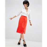 Warehouse Wrap Pencil Skirt - Red