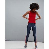 Leggings capri en azul marino colour block Power Speed de Nike Running