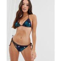 Ted Baker Molluna contrast tie side bikini bottoms - Navy