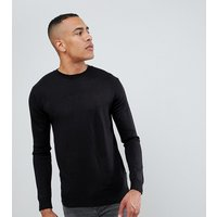 French Connection TALL Plain Logo Crew Neck Knit Jumper - Black