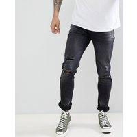 Le Breve Skinny Ripped Jeans - Black