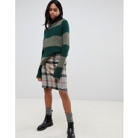 Barbour Wool Mini Skirt In Check
