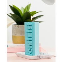Flamingo Candle feminist block candle - Green