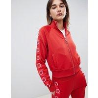 Karl Lagerfeld logo track jacket - Barbados cherry