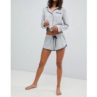 Abercrombie & Fitch Stripe Drapey Pj Short - Blue