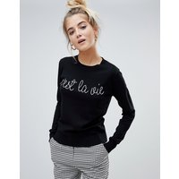 Jersey ajustado con eslogan bordado de Willow & Paige